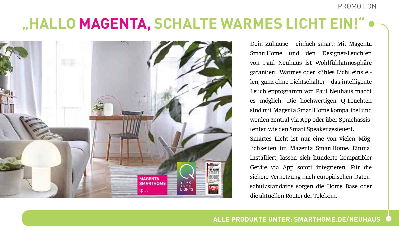 Licht auf Kommando mit Magenta Smart Home