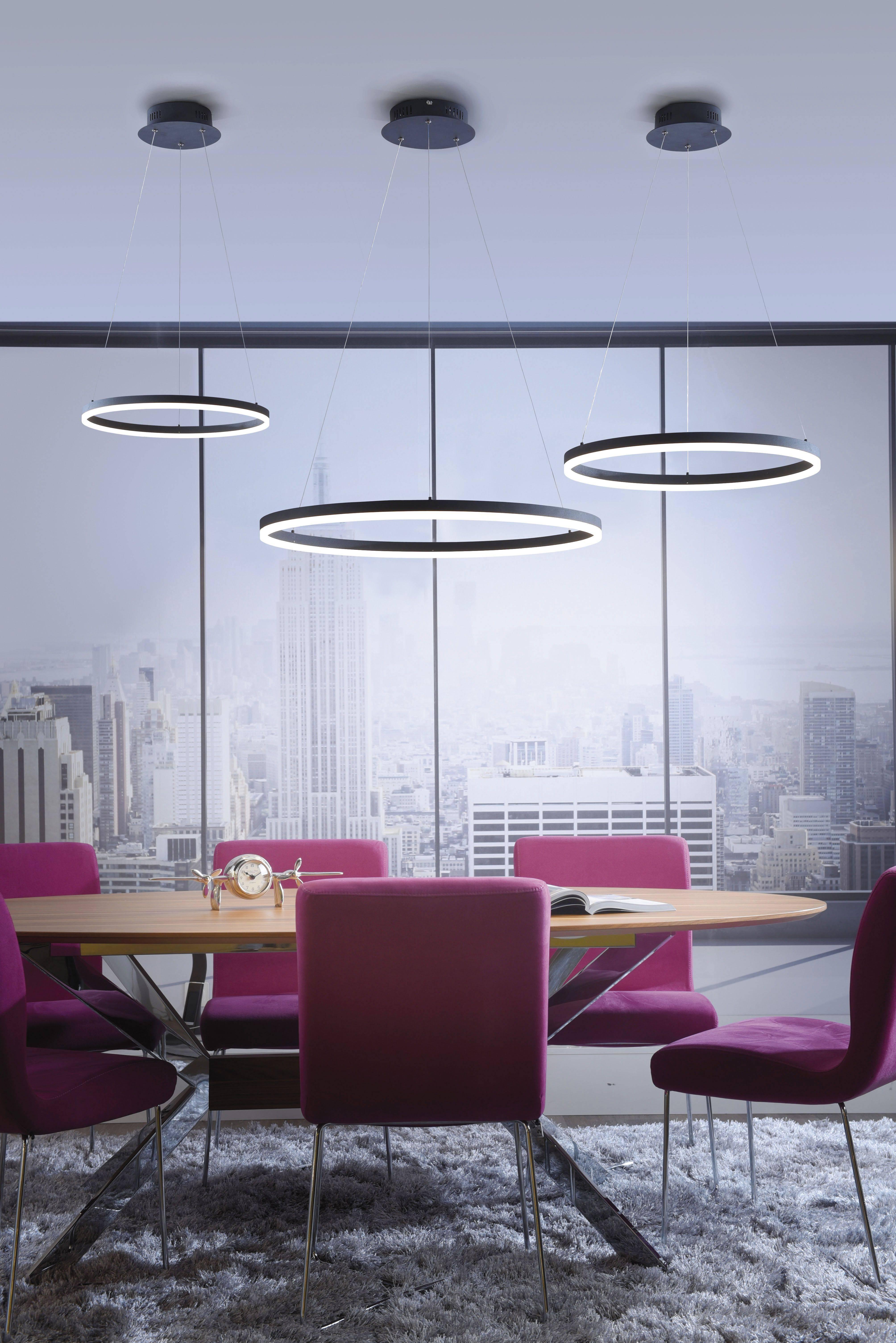 LED Pendelleuchte, Kreis,rund,anthrazit