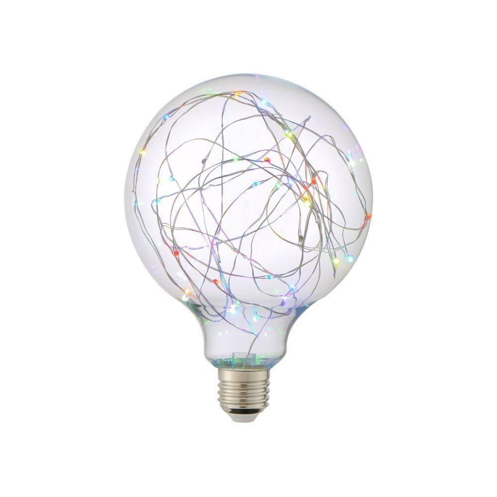LED-Dekorationsleuchte E27 in Globe Form mit RGB Farbwechsel blinkt dauerhaft