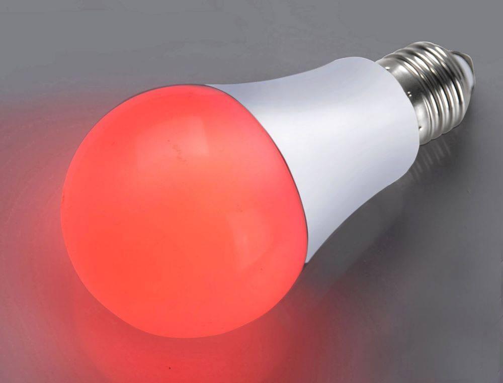 LED-Leuchtmittel E27 in rot mit energiesparender LED Technik