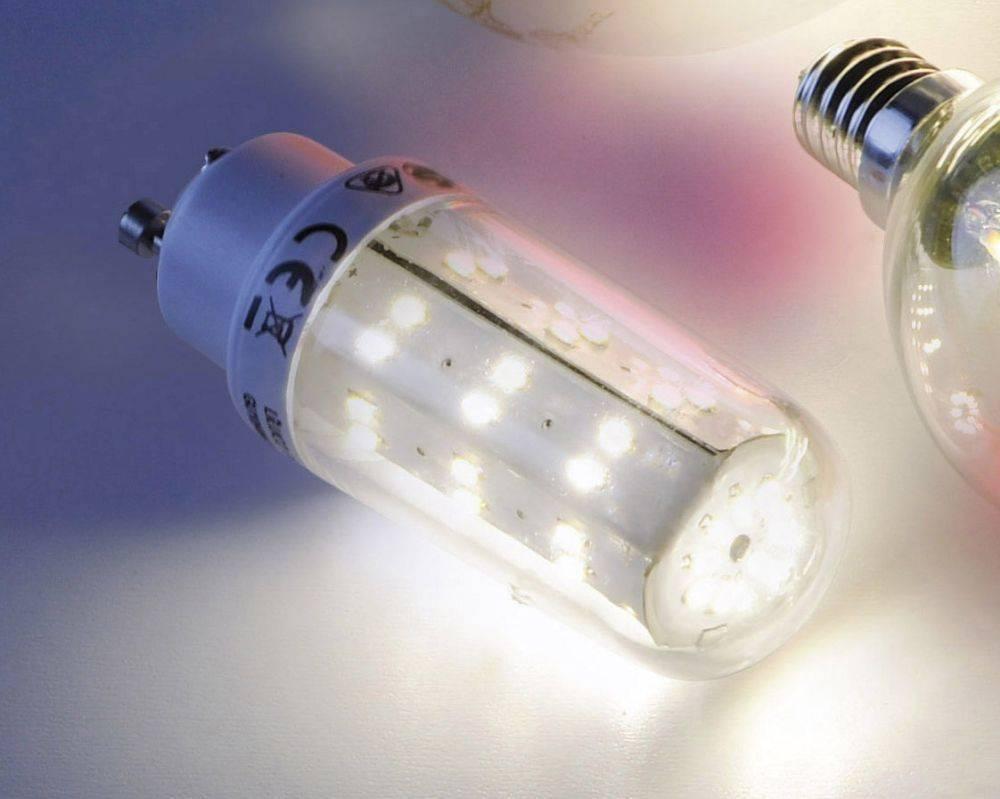 LED-Lampe GU10 in Stabform mit warmweißer Lichtfarbe