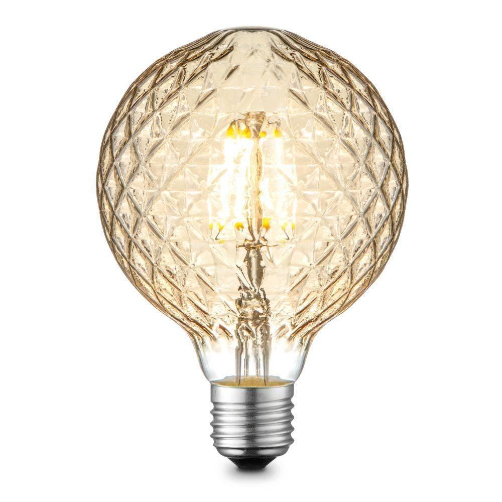 LED-Filament Leuchtmittel E27 in Dekorglobe Form mit warmweißer Lichtfarbe inkl. Dimmfunktio