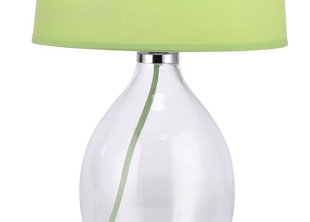 Tischleuchte, Vasenleuchte, grün, Glas-Stoff
