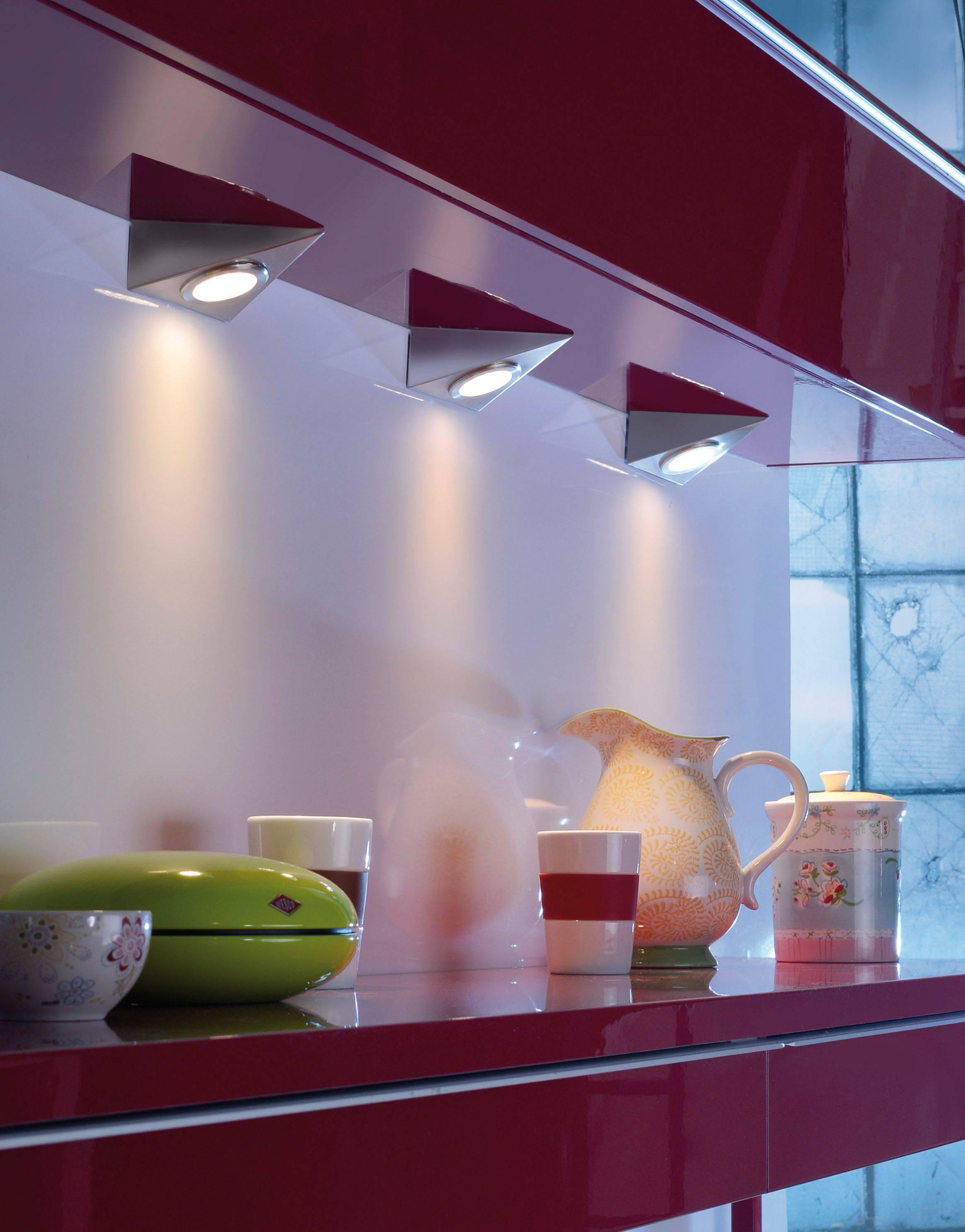 LED Unterbauleuchten-Set, 3-flammig, Stahl