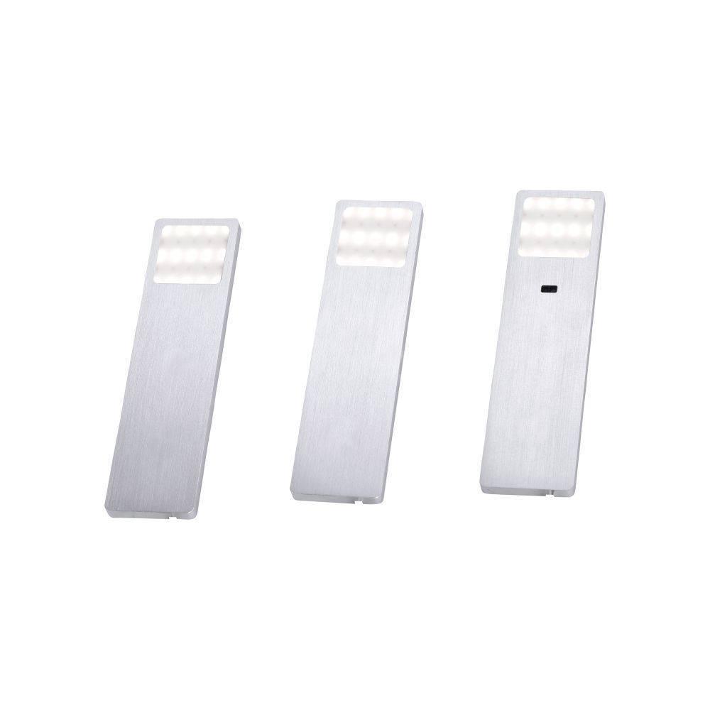 LED-Unterbauleuchten 3er Set in Aluminium inkl. Zuleitung und Sensorschalter