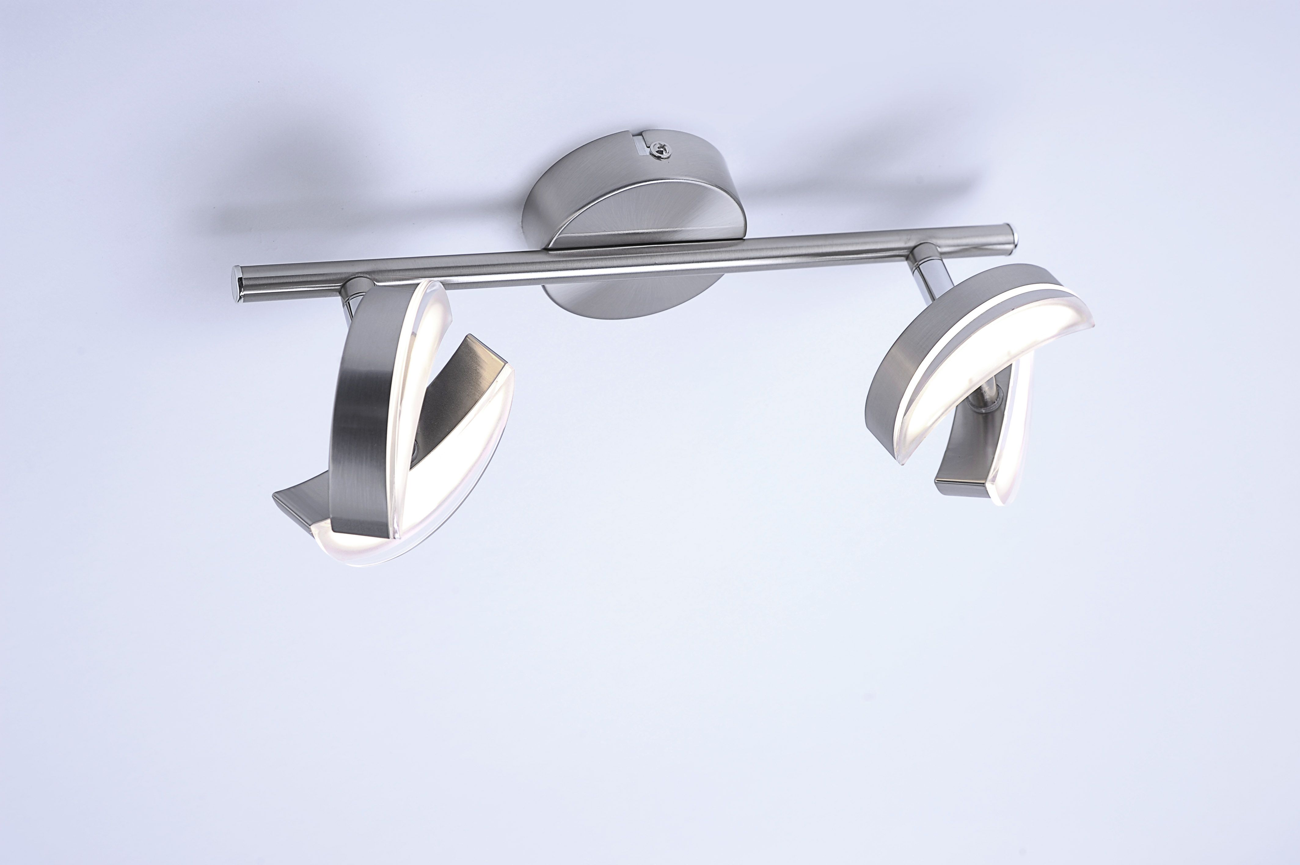 LED Deckenleuchte, 2 flammig stahl,schwenkbar,