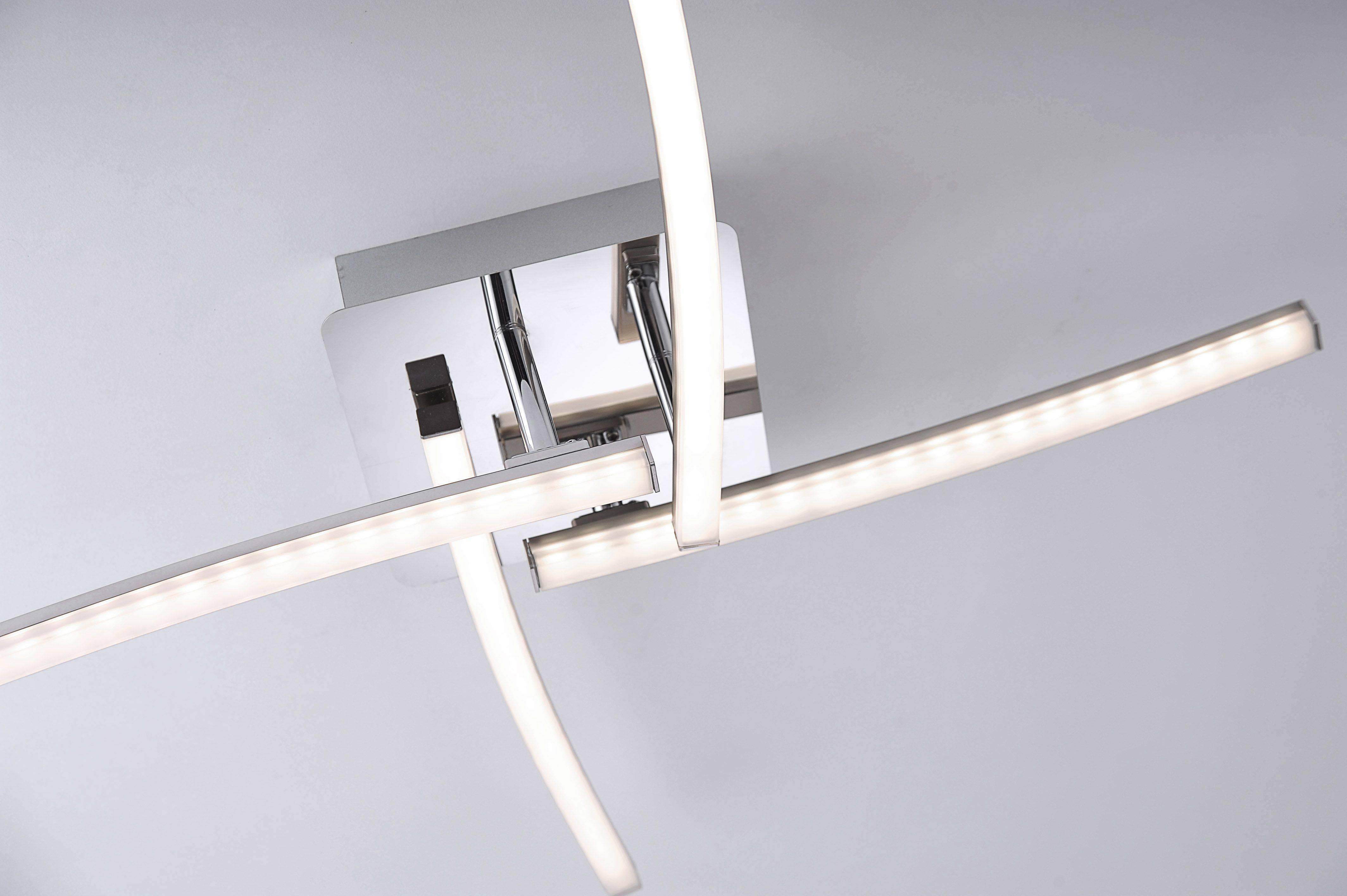 LED Deckenleuchte, stahl, 4-flammig