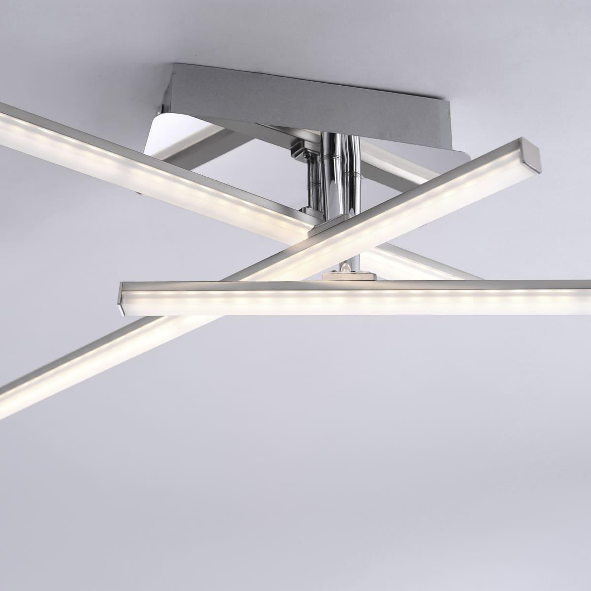 LED Deckenleuchte, 3-flammig, drehbar, stahl