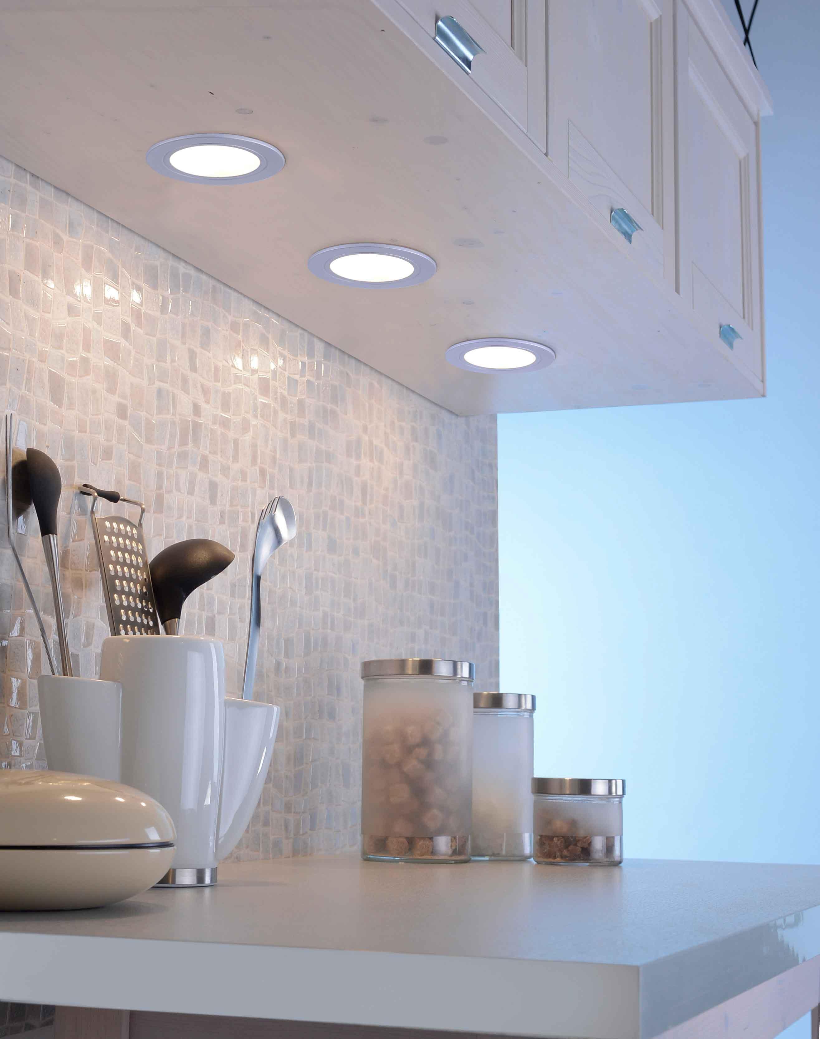 Q-ELLI Einbauleuchten, 3er Set, Smart Home, dimmbar, Ø 5,4 cm