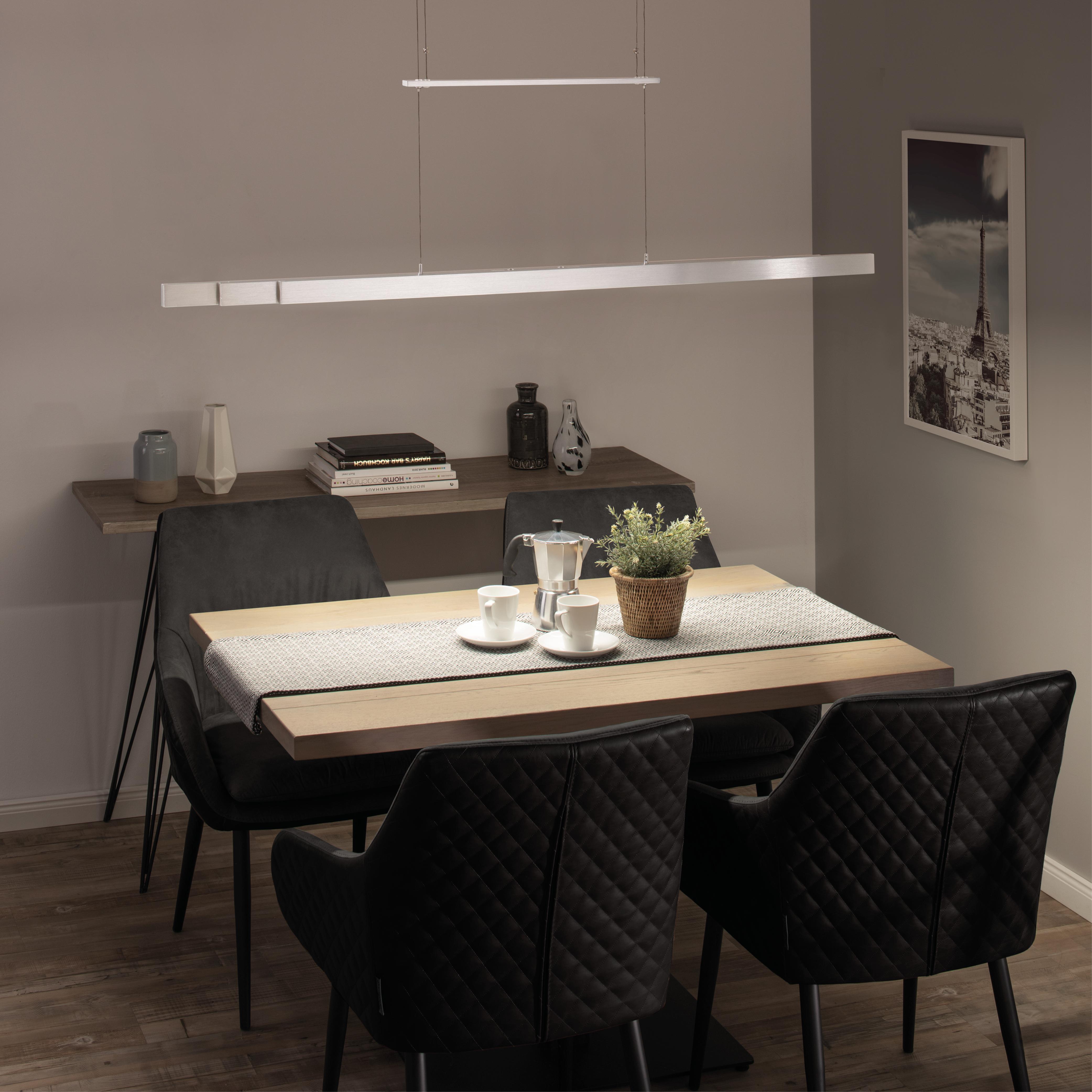 LED-Pendelleuchte, Alu, höhenverstellbar + ausziehbar, Touchdimmer
