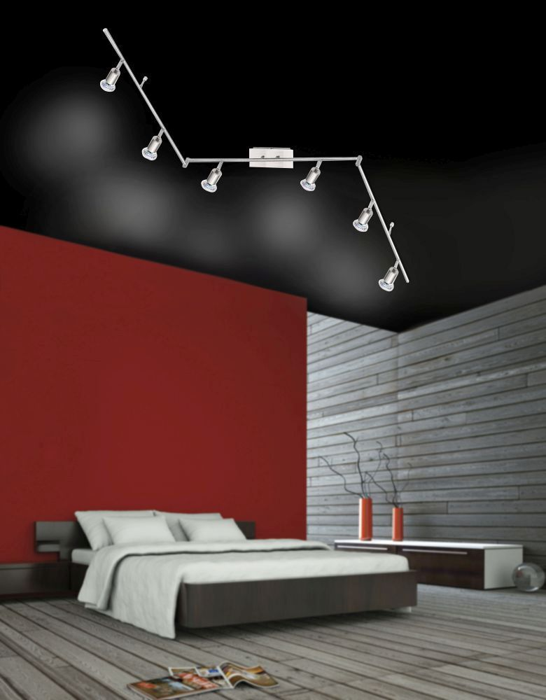 led deckenleuchte strahler schienensystem stahl ebay. Black Bedroom Furniture Sets. Home Design Ideas