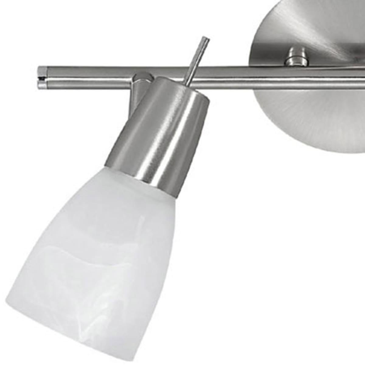 LED Deckenleuchte, stahl, Glas, 2-flammig