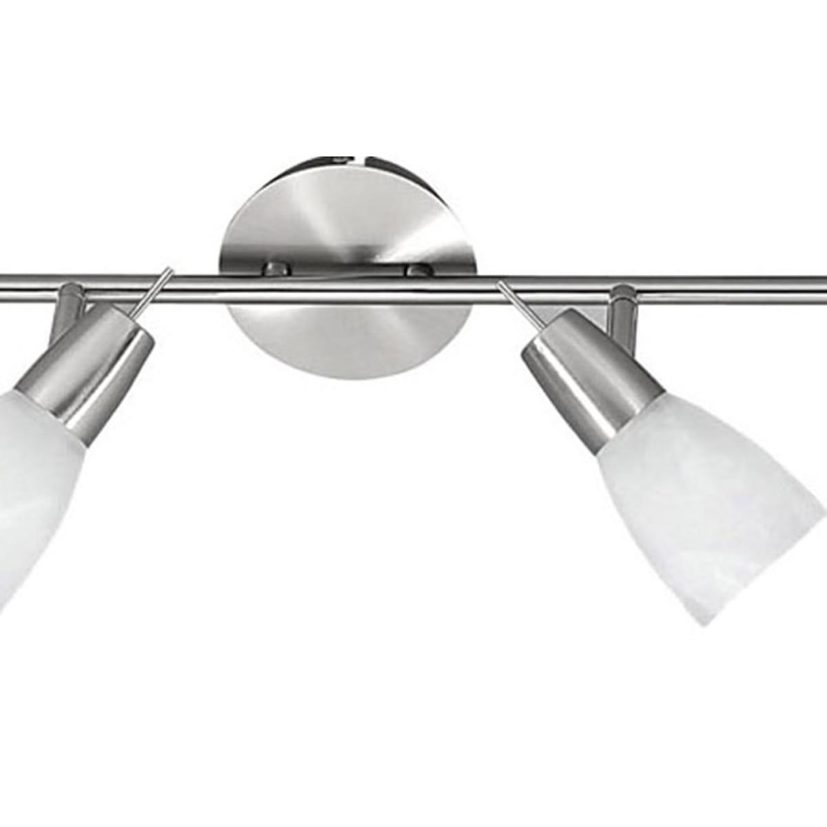 LED Deckenleuchte, 4-flammig, stahl, schwenkbar,