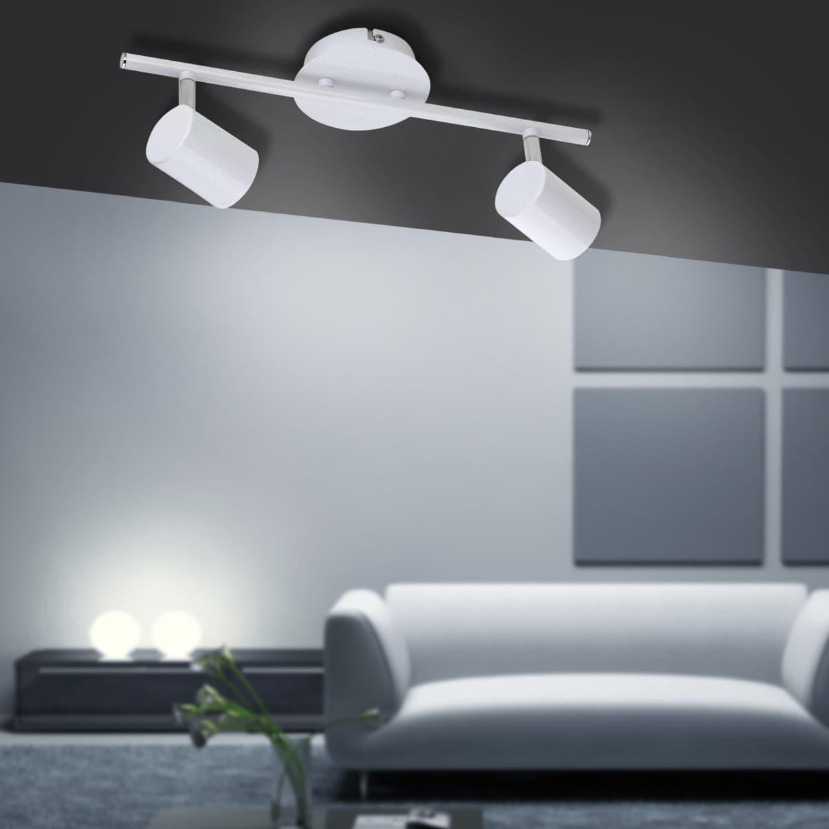 LED Deckenleuchte, weiß, Zylinder, drehbar