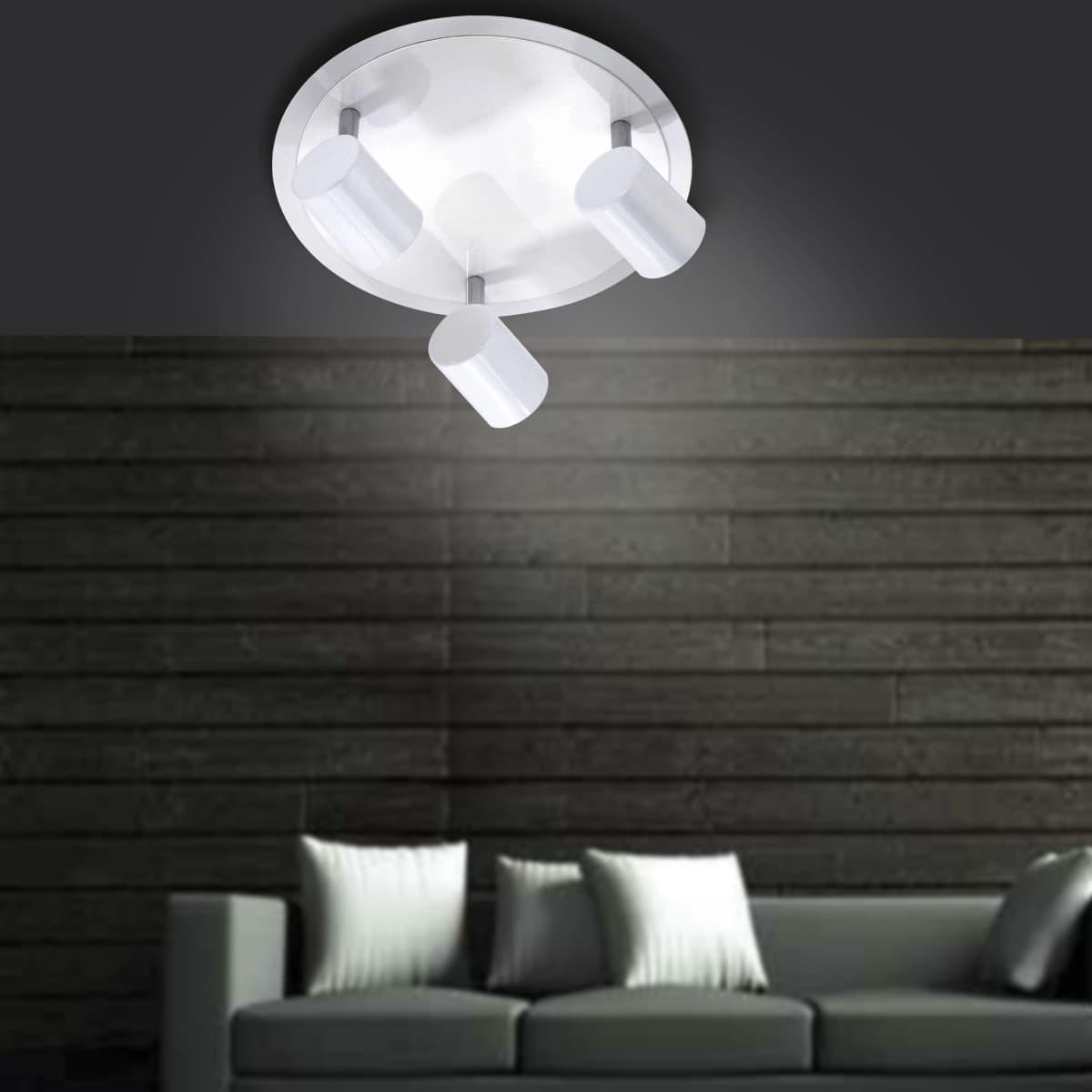 LED Deckenleuchte, rund, weiß