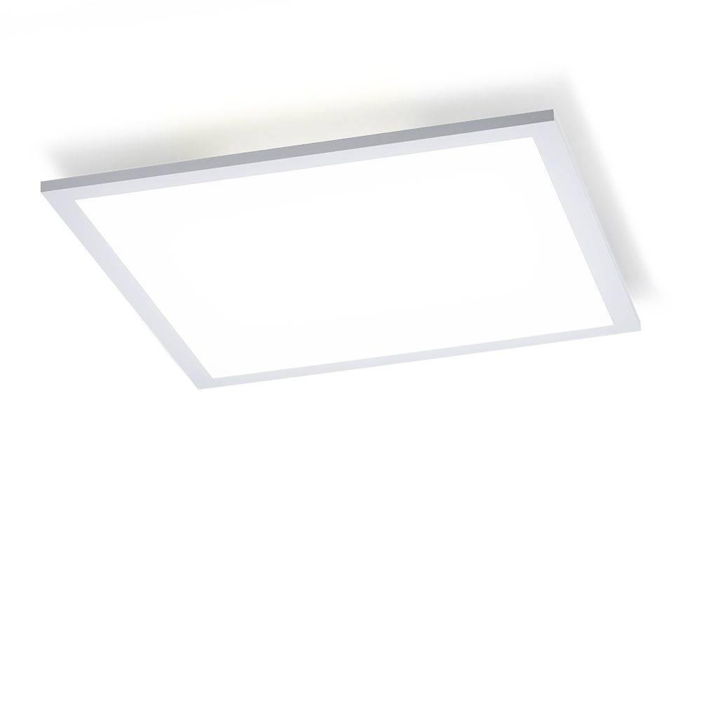 LED-Panel in weiß und quadratisch mit Lichtfarbsteuerung und Fernbedienung inkl. Dimmfunktion
