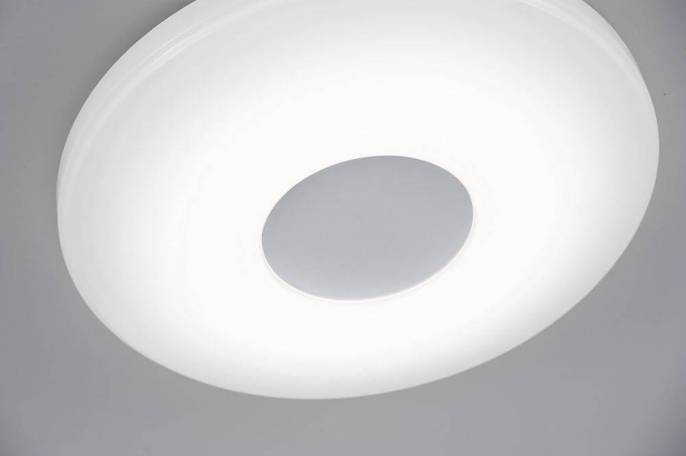 LED-Deckenleuchte in weiß und rund mit Lichtfarbsteuerung und Infrarot-Fernbedienung inkl. Memoryfunktion