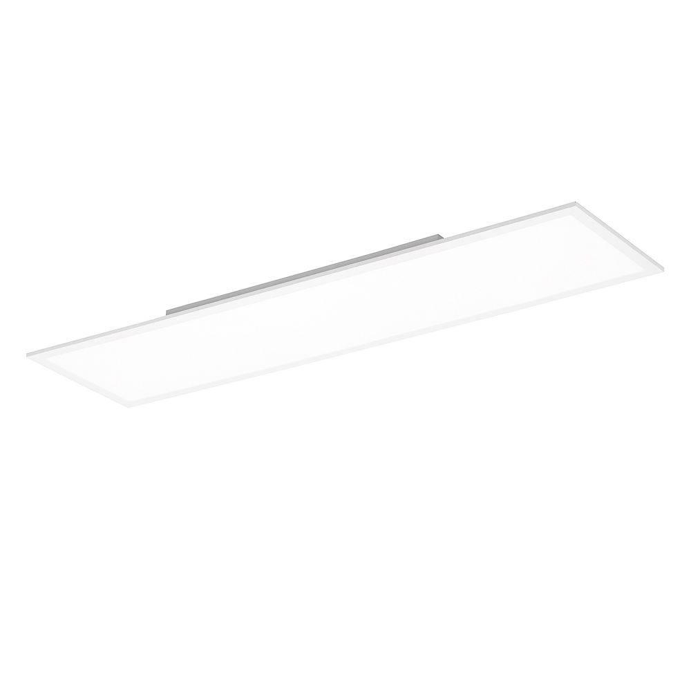 LED-Panel in weiß und rechteckig mit neutralweißer Lichtfarbe und energiesparendem Leuchtmittel