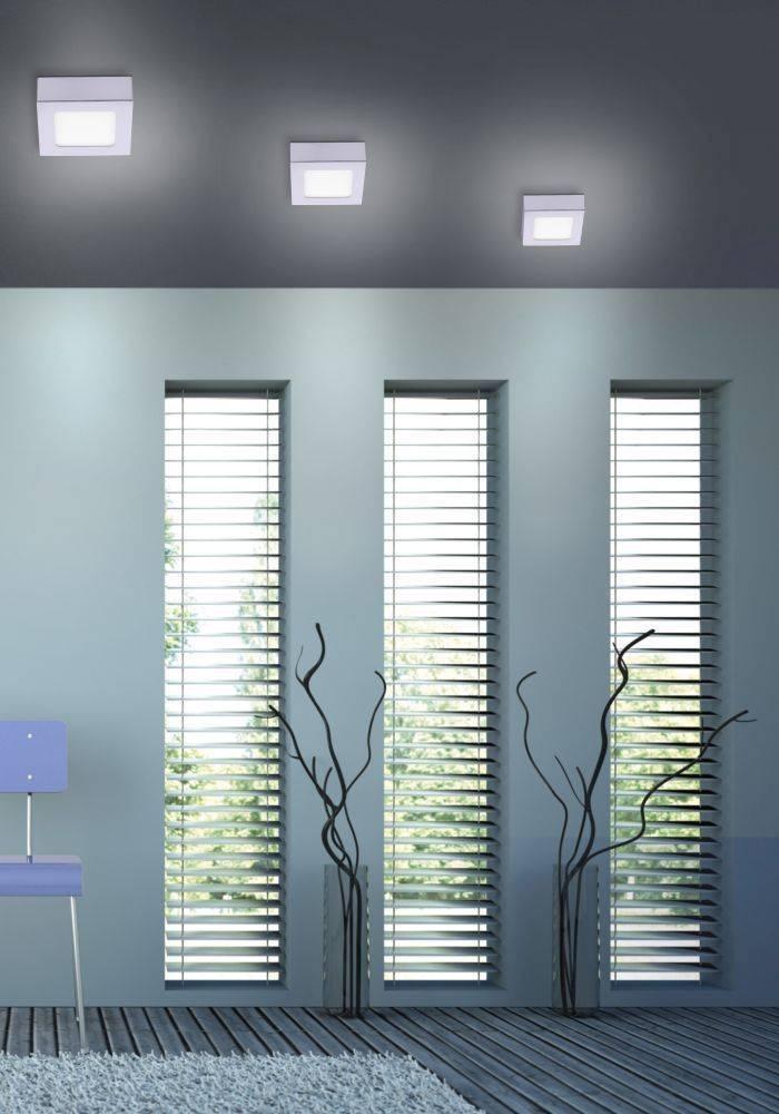 LED-Einbauleuchte in silber und quadratisch mit warmweißer Lichtfarbe inkl. Dimmfunktion strahlt blendfrei