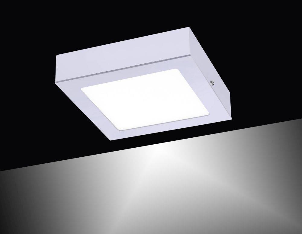 LED-Einbauleuchte in silber, quadratisch inkl. Dimmfunktion leuchtet blendfrei