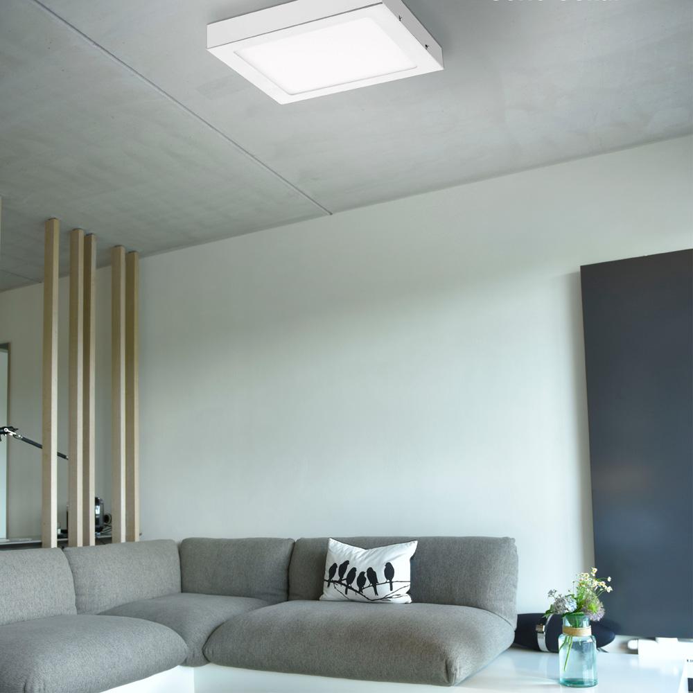 LED-Einbauleuchte, silber, quadratisch, dimmbar, blendfrei, warnweiß, eckig