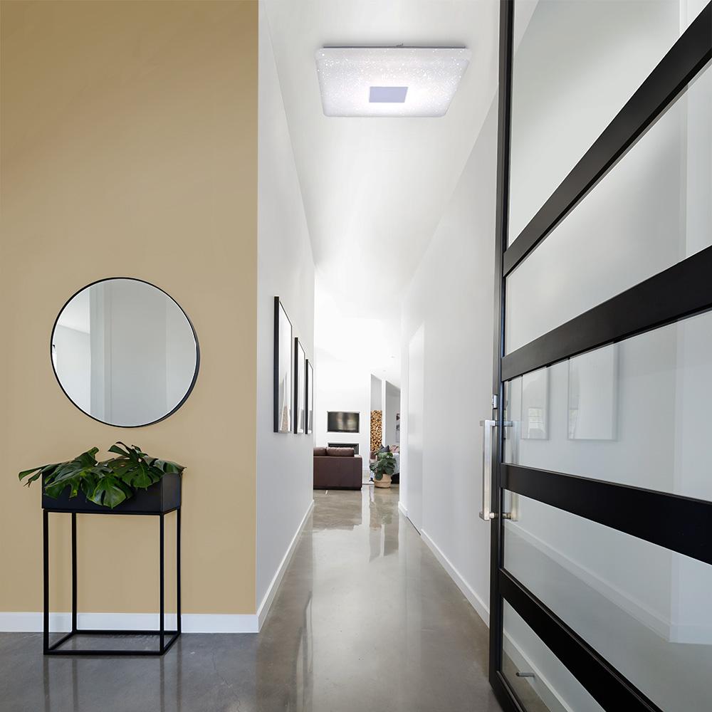 LED Deckenleuchte,Sternenhimmel, 60x60cm, weiß, dimmbar,
