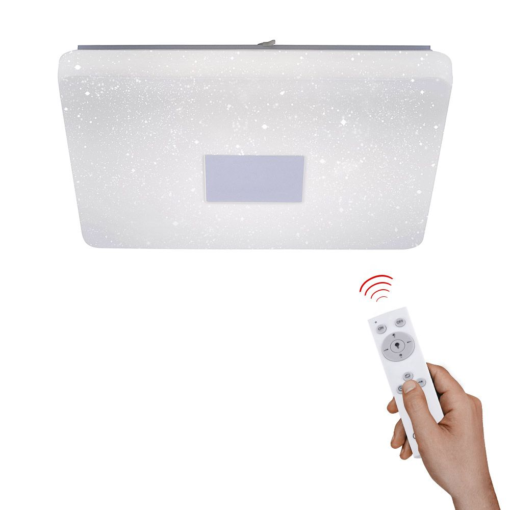 LED Deckenleuchte in quadratischer Form inkl. Infrarot-Fernbedienung und Memory Funktion
