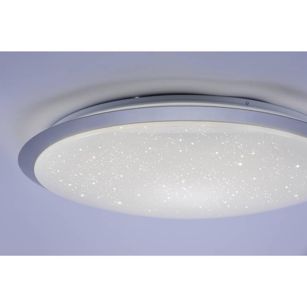 LED Deckenleuchte, groß, rund, silber