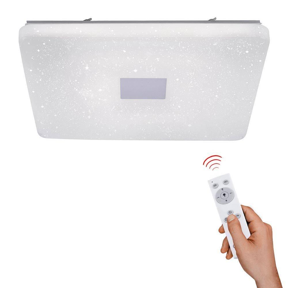 LED-Deckenleuchte in Sternenhimmeldekor mit Lichtfarbsteuerung und Fernbedienung sowie Serienschaltung