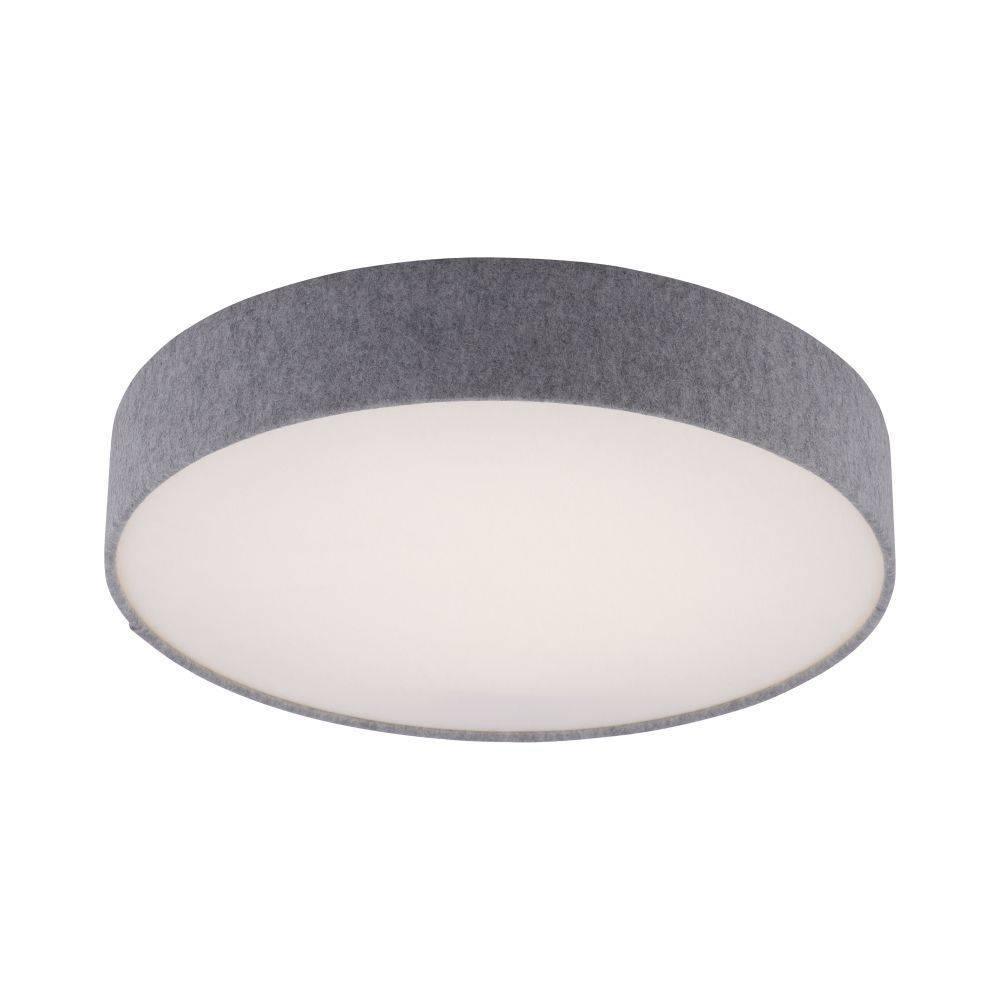 LED-Deckenleuchte in grau und rund mit Lichtfarbsteuerung und Infrarot-Fernbedienung inkl. Dimmfunktion