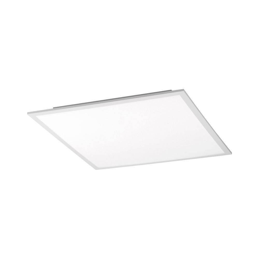 LED-Panel in weiß und quadratisch mit neutralweißer Lichtfarbe mit Funk-Fernbedienung inklusive Dimmfunktion