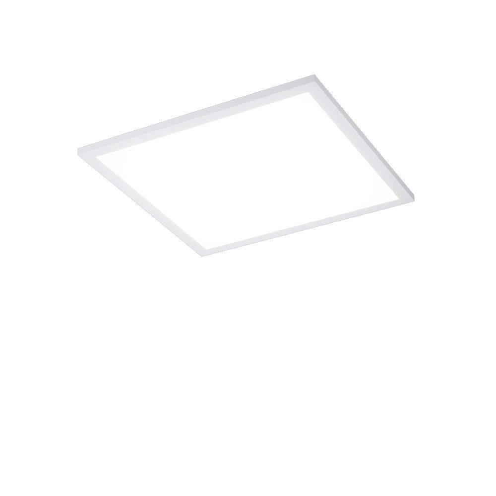LED-Panel in weiß und quadratisch mit Lichtfarbsteuerung und Funk-Fernbedienung inkl. Dimm- und Memoryfunktion