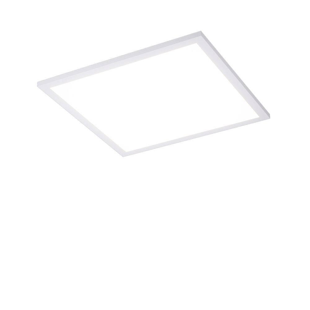 LED-Panel in weiß und quadratisch mit Lichtfarbsteuerung, Funk-Fernbedienung, Memory- und Dimmfunktion
