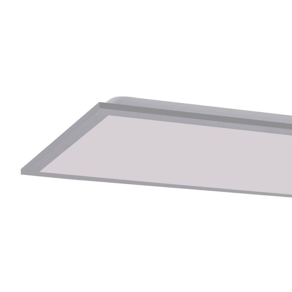 LED-Panel in Silber und rechteckig mit Lichtfarbsteuerung und Infrarot-Fernbedienung inkl. Dimmfunktion