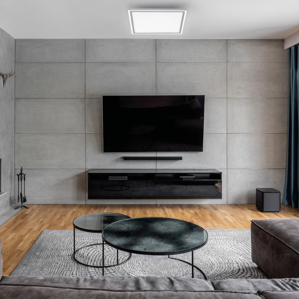 LED Panel, weiß, quadratisch, CCT Farbsteuerung, dimmbar, Fernbedienung