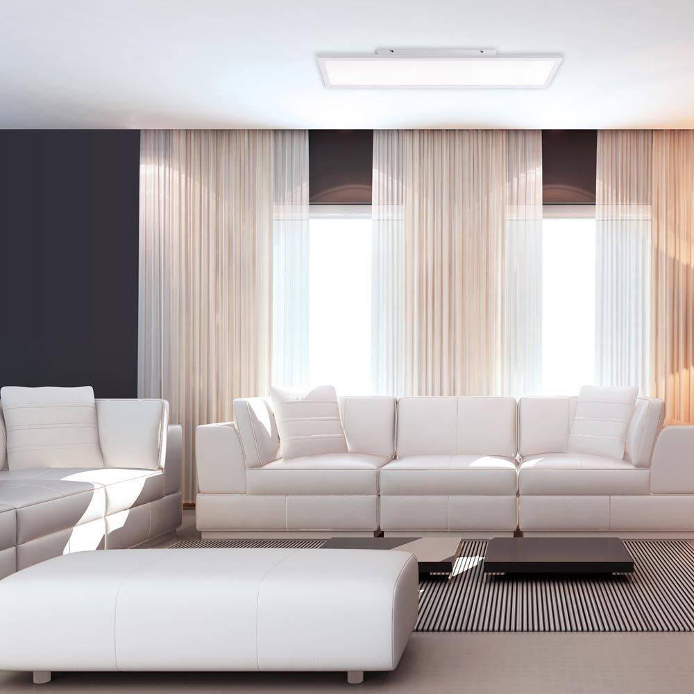 LED-Panel DirektSmart in weiß und rechteckig mit Lichtfarbsteuerung und RGB Farbwechsel strahlt blendfrei