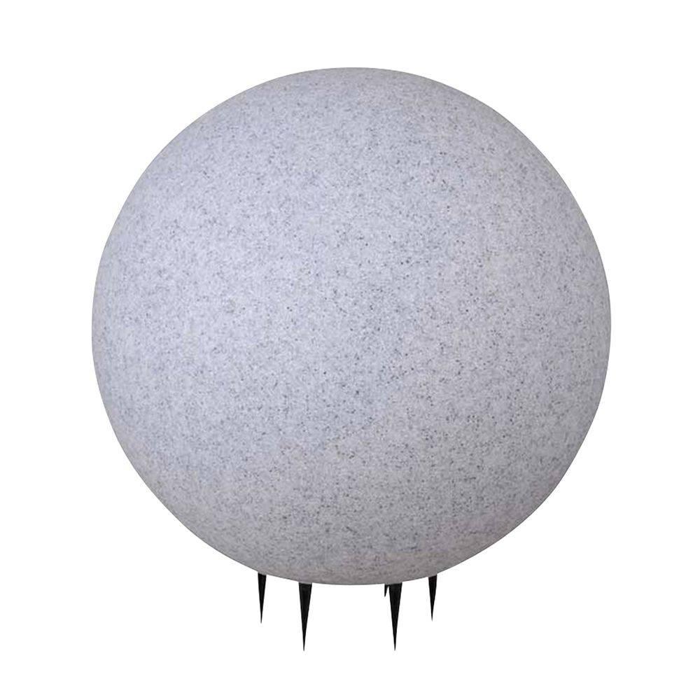 Kugelleuchte Naturstein-Optik mit 5 Meter Kabel ist staub- und spritzwassergeschützt