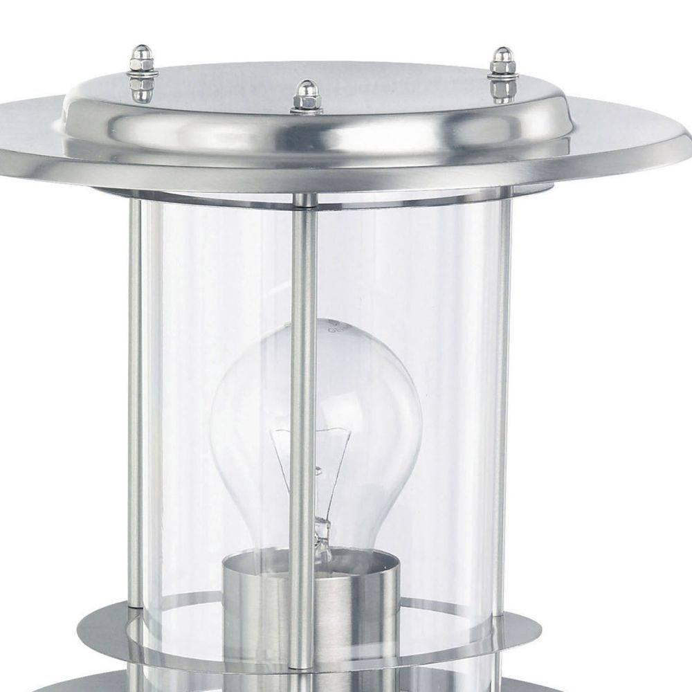 Wandleuchte mit Kunstoffglaszylinder inkl. Bewegungsmelder für E27 Leuchtmittel ist spritzwassergeschützt