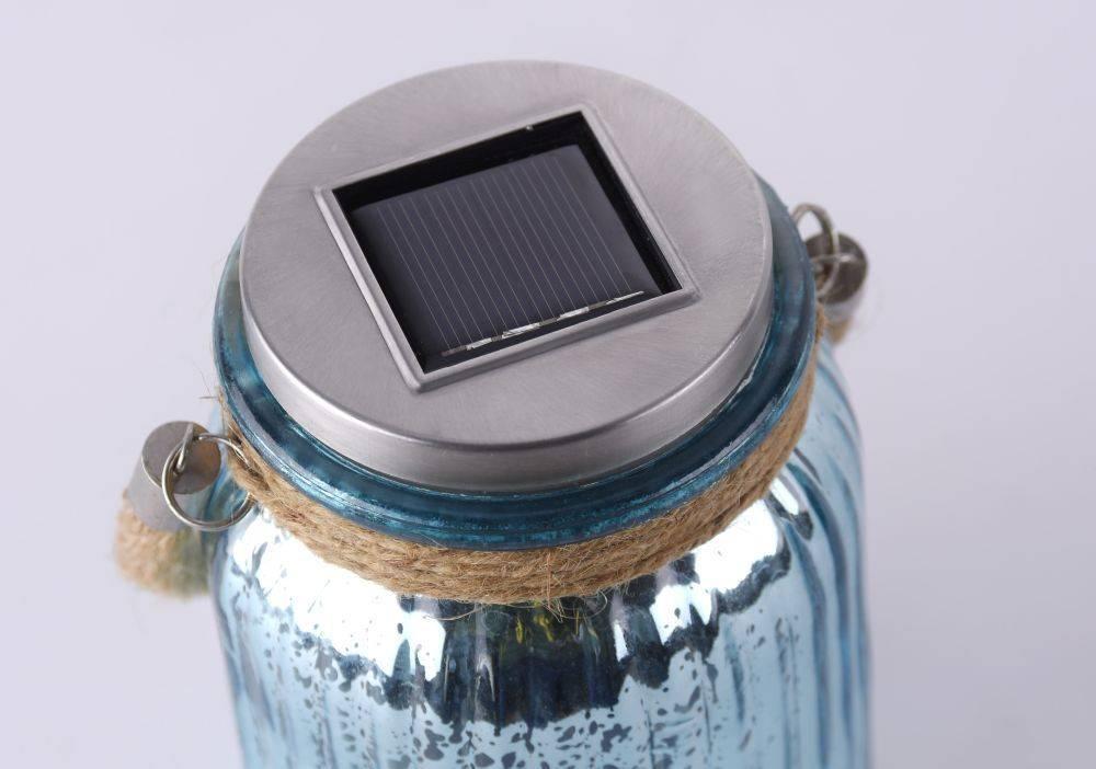 LED Solarlicht, Sonnenlichtglas, blau, Klassiker