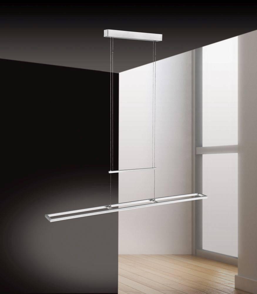 LED-Pendelleuchte mit warmweißer Lichtfarbe inkl. Dimm- und Memory-Funktion ist höhenverstellbar