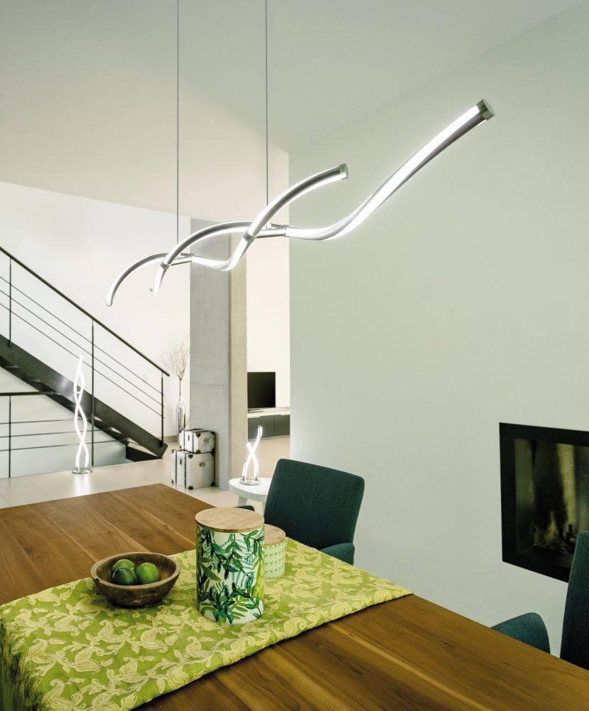 Q-MALINA LED-Pendelleuchte Smart-Home mit Lichtfarbsteuerung inkl. Funk-Fernbedienung mit Dimmfunktion
