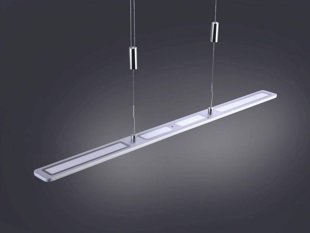 LED Pendelleuchte, alu, modern, Gestensteuerung