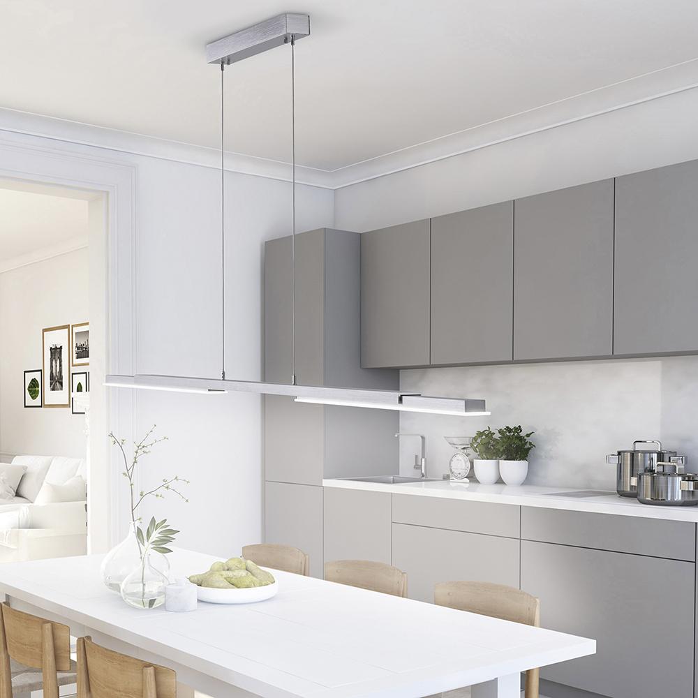 Paul Neuhaus, Q-HENRIK, LED-Pendelleuchte, ausziehbar, alu, Smart Home