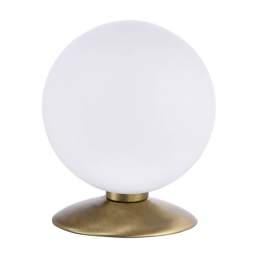LED-Kugelleuchte in altmessing mit warmweißer Lichtfarbe inkl. Touchdimmer strahlt blendfrei