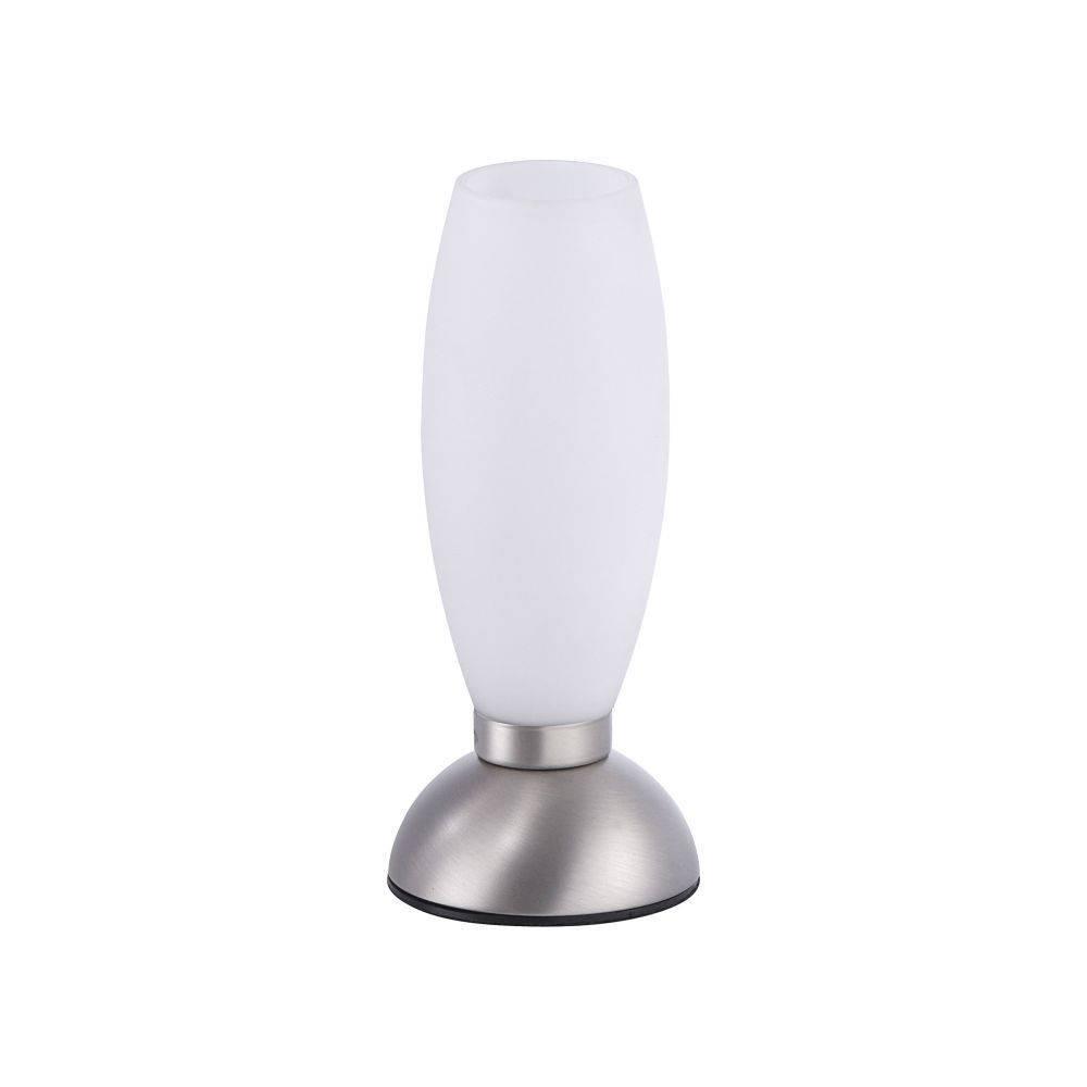 LED-Tischleuchte in Stahl mit warmweißer Lichtfarbe inkl. Touchdimmer strahlt blendfrei