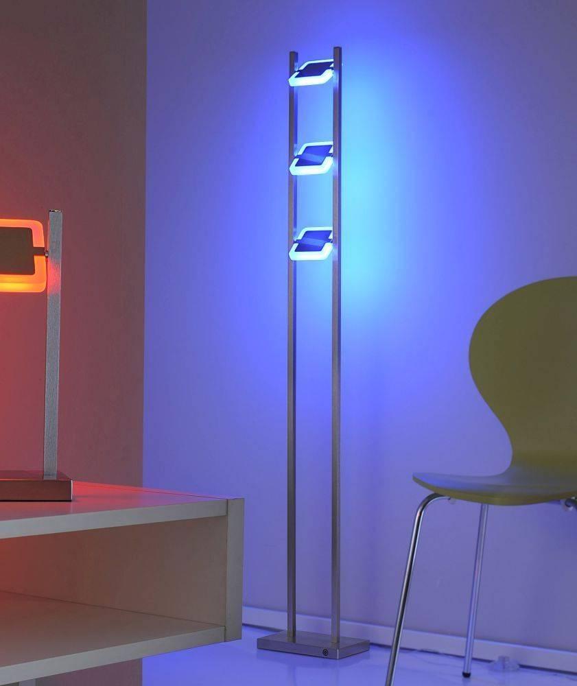 Q-VIDAL Tischleuchte mit Farbwechsel sowie Funk-Fernbedienung inkl. Dimmfunktion ist mit Alexa kompatibel