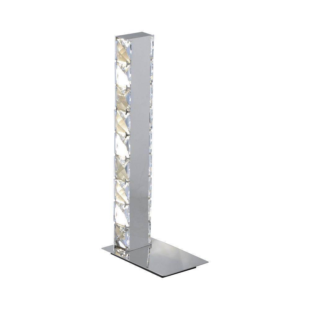 LED Tischleuchte, schmal, Kristall, strahlend