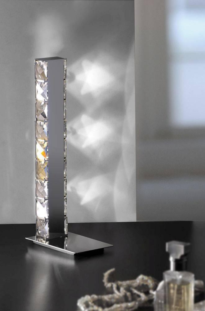 led tischleuchte schmal kristall strahlend ebay. Black Bedroom Furniture Sets. Home Design Ideas
