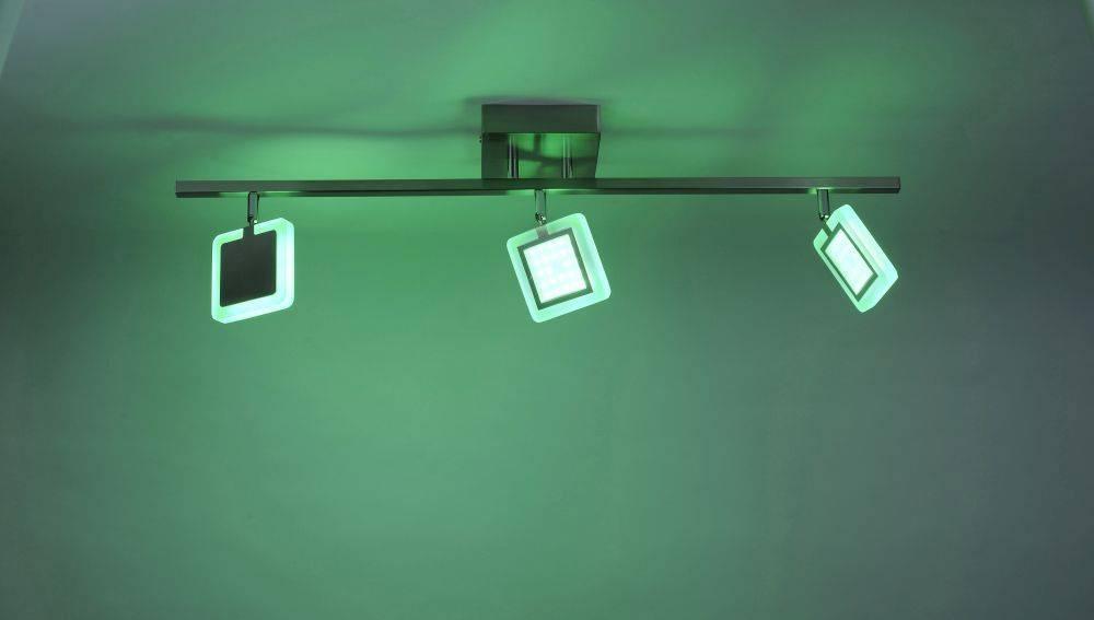 Q-VIDAL Deckenleuchte Smart-Home mit 3 Leuchtköpfen und Farbwechsel und Fernbedienung inkl. Dimmfunktion