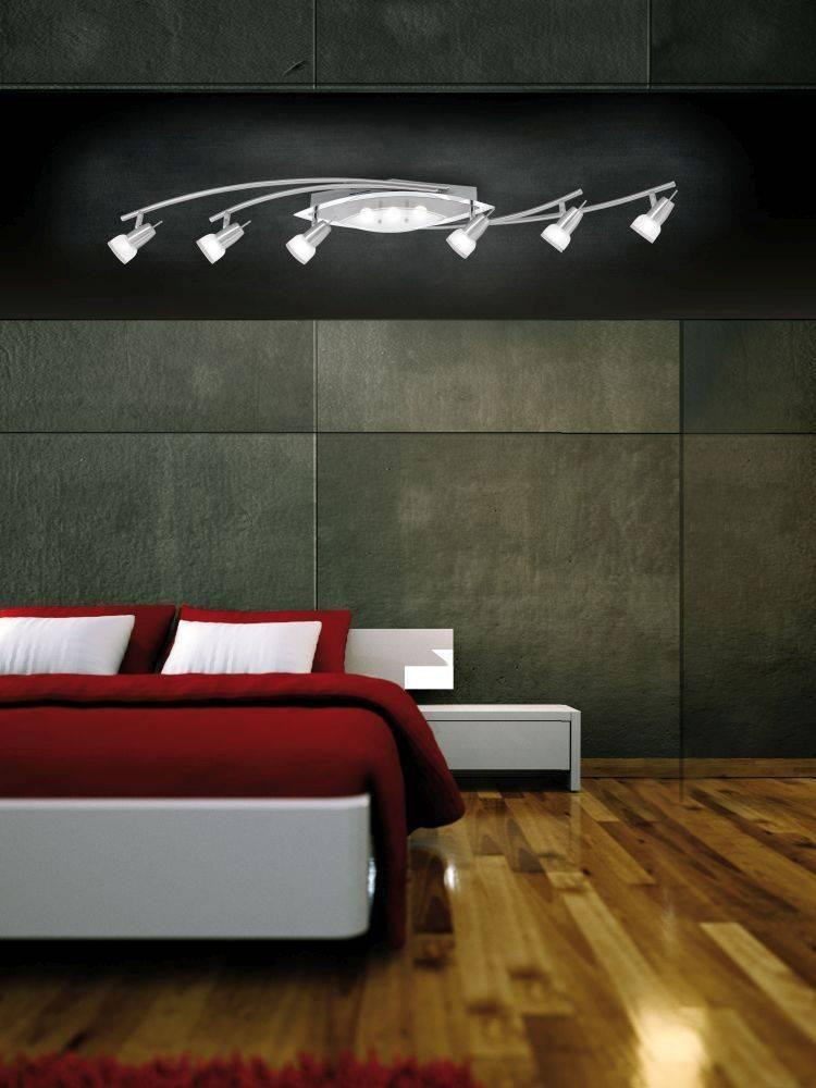 LED-Deckenleuchte, stahlfarben, 9-flammig, schwenkbar, klassisch